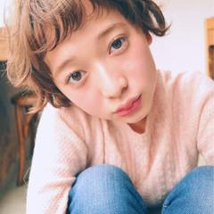 冬 前髪あり 外国人風 ガーリー ヘアスタイルや髪型の写真・画像