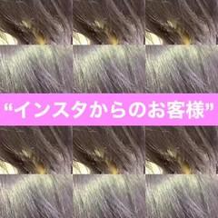 ヘアカラー グラデーション ブルーラベンダー ネイビー ヘアスタイルや髪型の写真・画像
