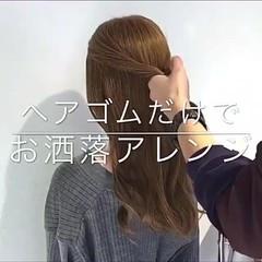 デート フェミニン 簡単ヘアアレンジ ショート ヘアスタイルや髪型の写真・画像