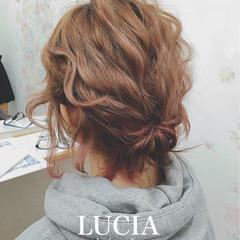簡単ヘアアレンジ ゆるふわ フェミニン ヘアアレンジ ヘアスタイルや髪型の写真・画像