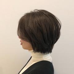 ショートボブ アンニュイほつれヘア お手入れ簡単!! 艶髪 ヘアスタイルや髪型の写真・画像