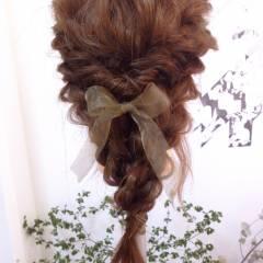 結婚式 編み込み ヘアアクセ ヘアアレンジ ヘアスタイルや髪型の写真・画像