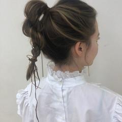 簡単ヘアアレンジ ヘアアレンジ フェミニン デート ヘアスタイルや髪型の写真・画像