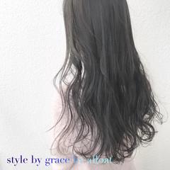 アッシュ アッシュベージュ モード アッシュグレージュ ヘアスタイルや髪型の写真・画像
