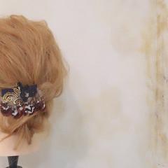 秋 ヘアアレンジ ロング ゆるふわ ヘアスタイルや髪型の写真・画像