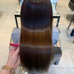 髪質改善 セミロング 髪質改善カラー 髪質改善トリートメント ヘアスタイルや髪型の写真・画像