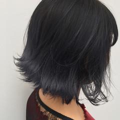 ボブ 色気 暗髪 ストリート ヘアスタイルや髪型の写真・画像
