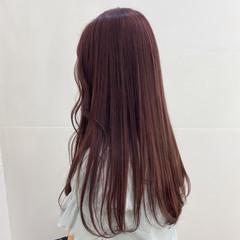 ガーリー ピンクブラウン ピンクベージュ ロング ヘアスタイルや髪型の写真・画像