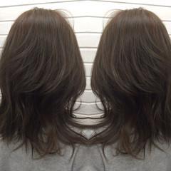 こなれ感 ストリート ハイライト セミロング ヘアスタイルや髪型の写真・画像