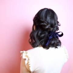 モード ショート ウェーブ 暗髪 ヘアスタイルや髪型の写真・画像