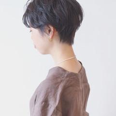 フェミニン ショート エフォートレス モード ヘアスタイルや髪型の写真・画像