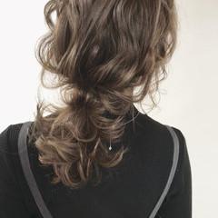 ミディアム ヘアカラー 簡単ヘアアレンジ 外国人風カラー ヘアスタイルや髪型の写真・画像