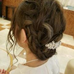 結婚式 ナチュラル ヘアアレンジ アンニュイ ヘアスタイルや髪型の写真・画像