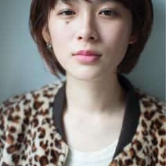 イルミナカラー 外ハネ ショート 外国人風カラー ヘアスタイルや髪型の写真・画像