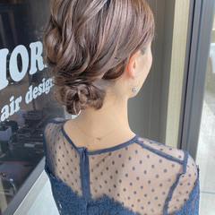 ミディアム 結婚式アレンジ ナチュラル 結婚式ヘアアレンジ ヘアスタイルや髪型の写真・画像
