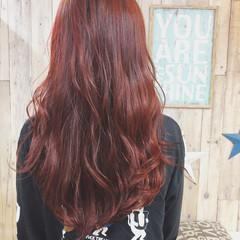 ベリーピンク ピンクベージュ ロング ラベンダーピンク ヘアスタイルや髪型の写真・画像