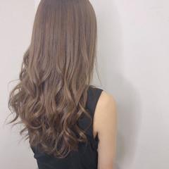 デート ナチュラル ロング ヘアカラー ヘアスタイルや髪型の写真・画像