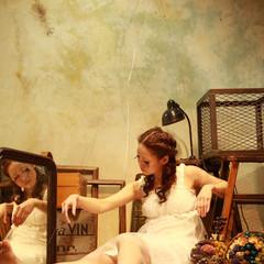 ヘアアレンジ ガーリー セミロング アンティーク ヘアスタイルや髪型の写真・画像