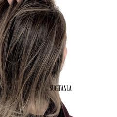 ミディアム ダブルカラー 上品 イルミナカラー ヘアスタイルや髪型の写真・画像