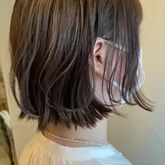 外ハネボブ ナチュラル ボブ ゆるふわセット ヘアスタイルや髪型の写真・画像