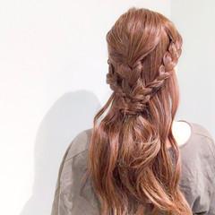 三つ編み デート 上品 エレガント ヘアスタイルや髪型の写真・画像