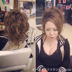 アップスタイル ヘアアレンジ ロング 渋谷系 ヘアスタイルや髪型の写真・画像