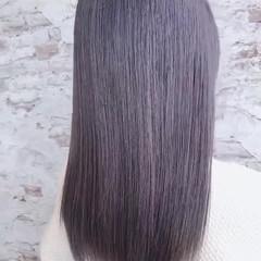 イルミナカラー グラデーションカラー ガーリー パープル ヘアスタイルや髪型の写真・画像