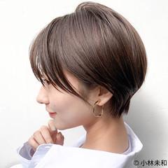 外国人風カラー ショート ナチュラル マッシュショート ヘアスタイルや髪型の写真・画像