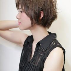 抜け感 ショート 外ハネ 透明感 ヘアスタイルや髪型の写真・画像