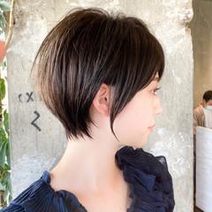 ショートボブ 丸みショート ショートカット ショート ヘアスタイルや髪型の写真・画像