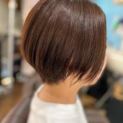 切りっぱなしボブ ベリーショート ショートボブ ナチュラル ヘアスタイルや髪型の写真・画像