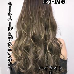 ハイライト 艶髪 インナーカラー エレガント ヘアスタイルや髪型の写真・画像