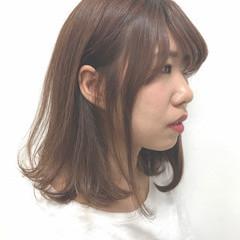ピンク ナチュラル ミディアム スモーキーカラー ヘアスタイルや髪型の写真・画像