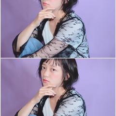 アンニュイ 女子会 ショート オフィス ヘアスタイルや髪型の写真・画像