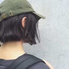 ヘアアレンジ ボブ ゆるふわ ストリート ヘアスタイルや髪型の写真・画像