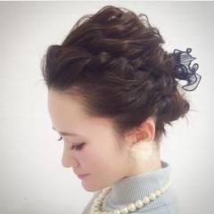 簡単ヘアアレンジ ショート コンサバ アップスタイル ヘアスタイルや髪型の写真・画像
