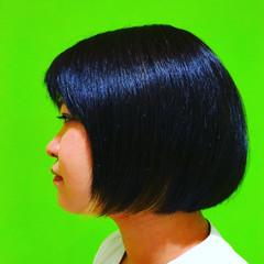 暗髪 黒髪 モード ストレート ヘアスタイルや髪型の写真・画像