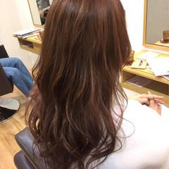 ハイライト ピンク ロング イルミナカラー ヘアスタイルや髪型の写真・画像
