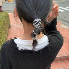 ストリート 切りっぱなしボブ ボブ 簡単ヘアアレンジ ヘアスタイルや髪型の写真・画像