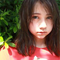 ミディアム ピュア ナチュラル 前髪あり ヘアスタイルや髪型の写真・画像
