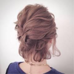 ヘアアレンジ ボブ ショート 簡単ヘアアレンジ ヘアスタイルや髪型の写真・画像