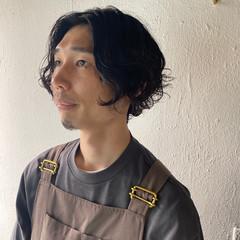 黒髪 ナチュラル くせ毛風 ボブ ヘアスタイルや髪型の写真・画像