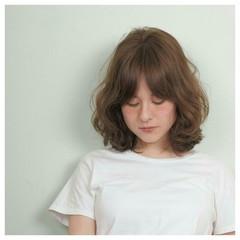 ストリート 外国人風 パーマ ミディアム ヘアスタイルや髪型の写真・画像