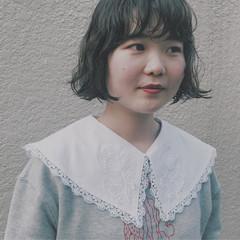 デート ボブ 謝恩会 ナチュラル ヘアスタイルや髪型の写真・画像