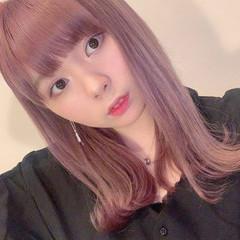 ピンク ピンクアッシュ ブリーチカラー ヘアカラー ヘアスタイルや髪型の写真・画像