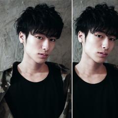 黒髪 パーマ かっこいい モード ヘアスタイルや髪型の写真・画像
