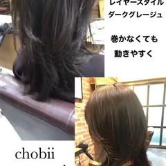 ウルフカット ナチュラル レイヤーカット グレージュ ヘアスタイルや髪型の写真・画像