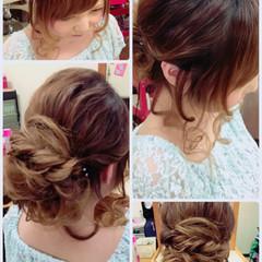 ヘアアレンジ ルーズ ウェーブ フェミニン ヘアスタイルや髪型の写真・画像