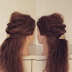 結婚式 ショート セルフヘアアレンジ セミロング ヘアスタイルや髪型の写真・画像
