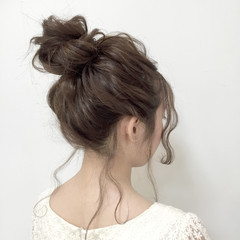 モテ髪 ショート 簡単ヘアアレンジ 夏 ヘアスタイルや髪型の写真・画像